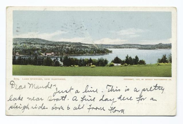 Lake Spofford, Chesterfield, N. H.