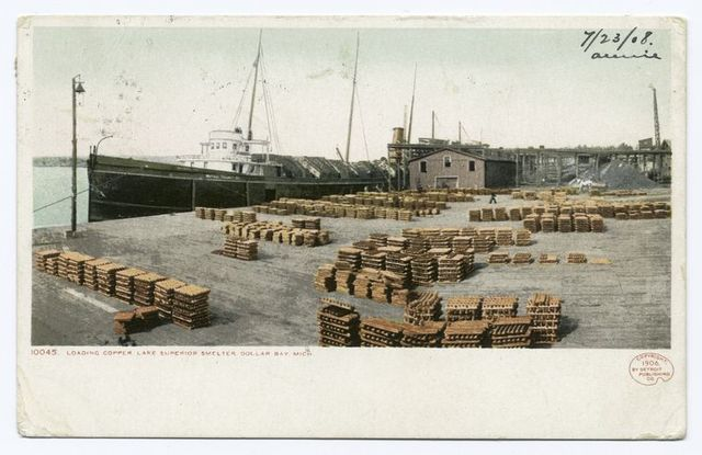 Lake Superior Smelter, Loading Copper, Dollar Bay, Mich.