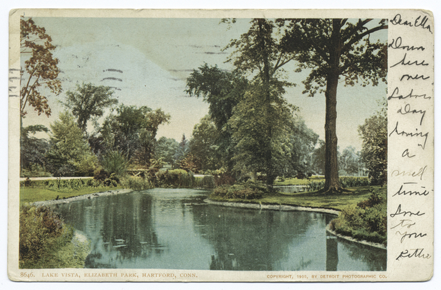 Lake Vista, Elizabeth Park, Hartford, Conn.