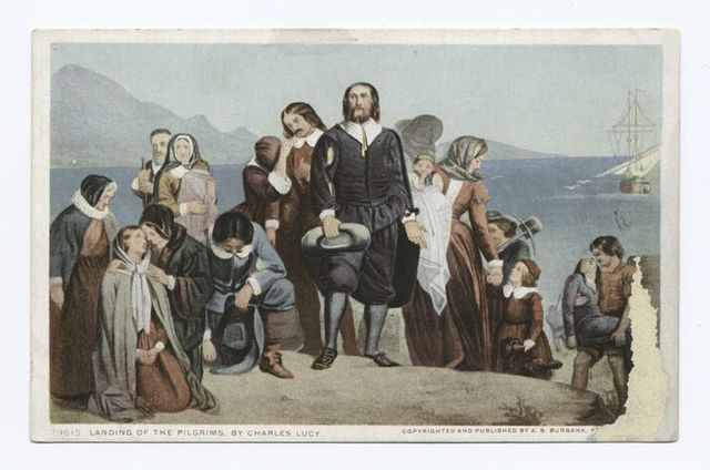 Landing of the Pilgrims, by Charles Lucy, Painting