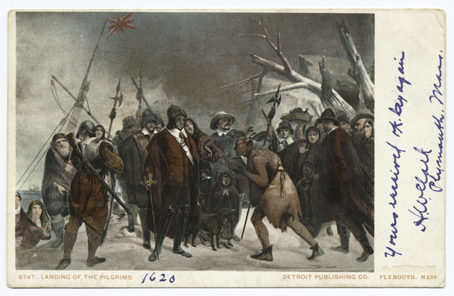 Landing of the Pilgrims, Plymouth, Mass.