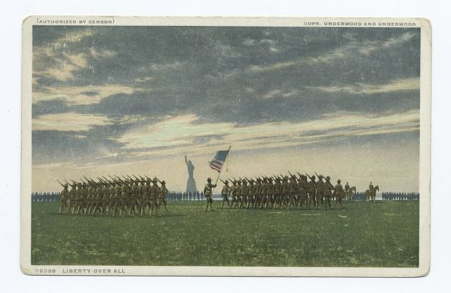 Liberty Over All, Governors Island, N. Y., World War I