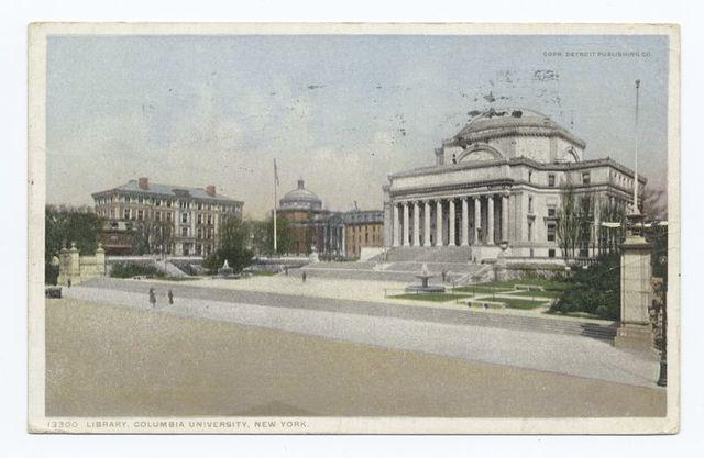 Library, Columbia University, New York, N.Y.