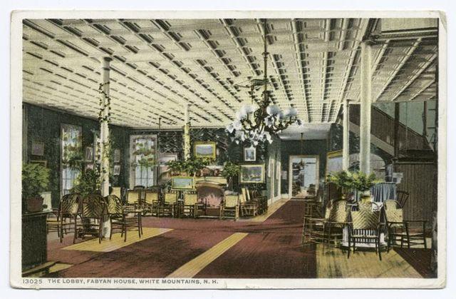 Lobby, Fabyan House, White Mountains, N.H.