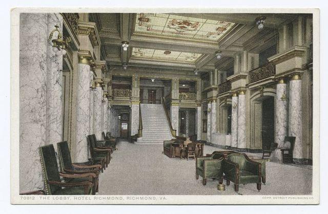 Lobby, Hotel Richmond, Richmond, Va.