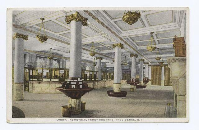 Lobby, Industrial Trust Company, Providence, R. I.