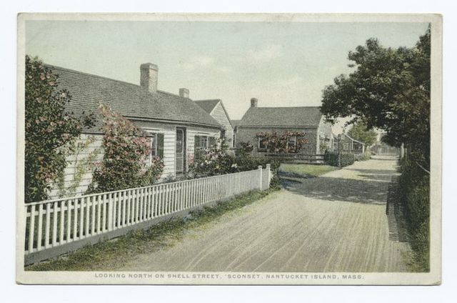Looking North on Shell Street, Sconset, Nantucket Island, Mass.