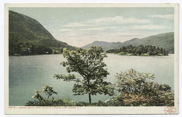 Looking South from Landing, Huletts, Lake George, N. Y.