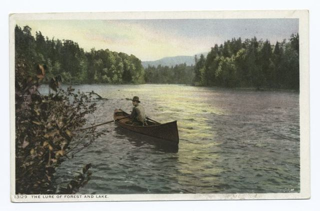 Lure of Forest and Lake, Adirondack Mountains, N.Y.