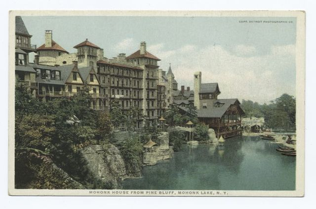 Mohonk House from Pine Bluff, Mohonk Lake, N.Y.