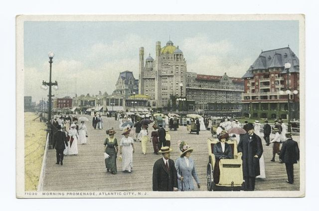 Morning Promenade, Atlantic City, N. J.