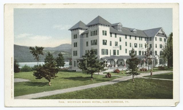 Mountain Spring Hotel, Lake Dunmore, Vt.