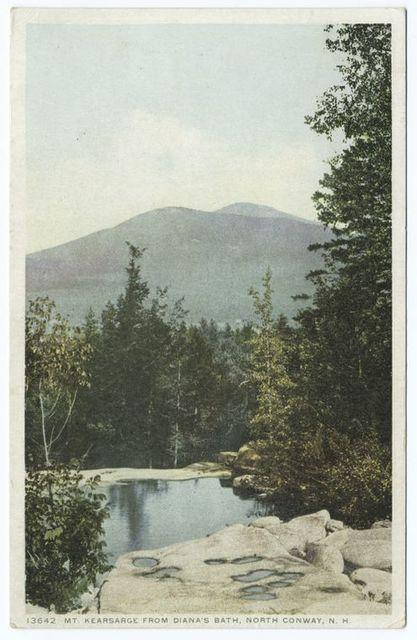 Mt. Kearsage from Diana's Bath, No. Conway, N.H.