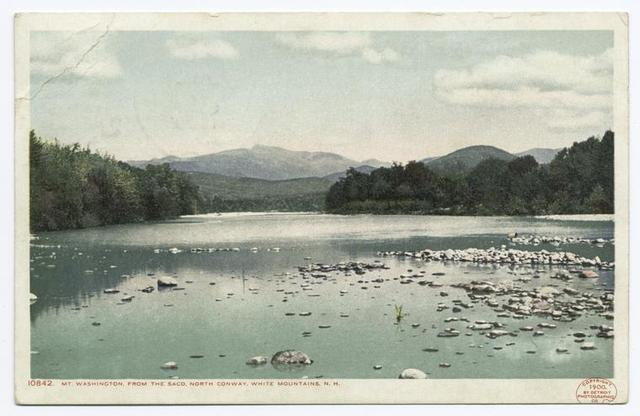 Mt. Washington, from The Saco, North Conway, White Mountains, N. H.
