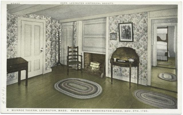 Munroe Tavern, Room where Washington dined November 5, 1789, Lexington, Mass.