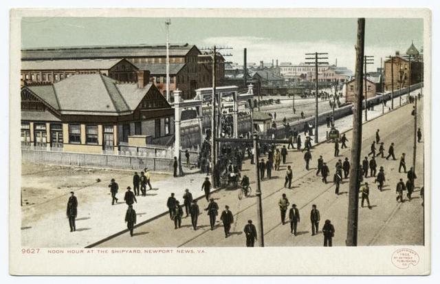 Noon Hour at Shipyard, Newport News,Va.