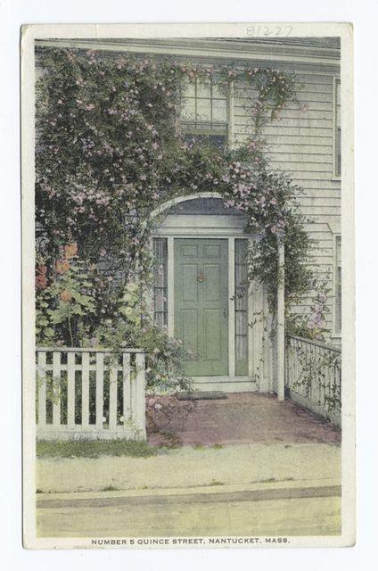 Number 5 Quince Street, Nantucket, Mass.