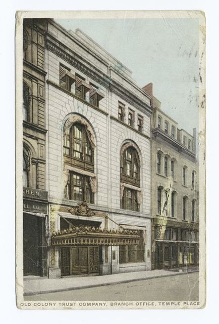 Old Colony Trust Company, Branch Office, Temple Place