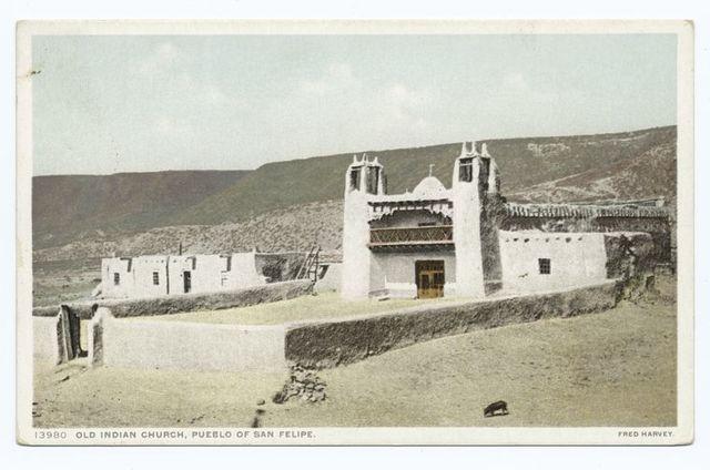 Old Indian Church, Pueblo San Felipe, New Mexico