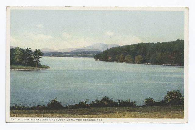 Onota Lake and Greylock Mtn., Berkshires, Massachusetts