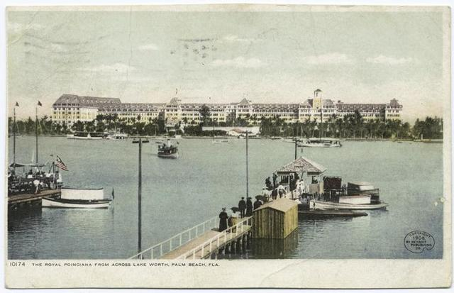 Palm Beach from across Lake Worth (Royal Poinciana), Palm Beach, Fla.