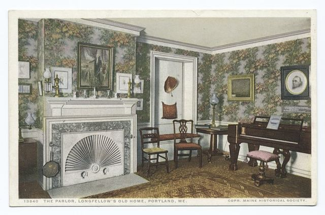 Parlor, Longfellow's Old Home, Portland, Me.