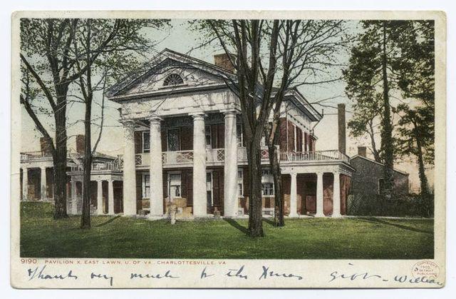 Pavilion X, East Lawn, Univ. of Virginia, Charlottesville, Va.