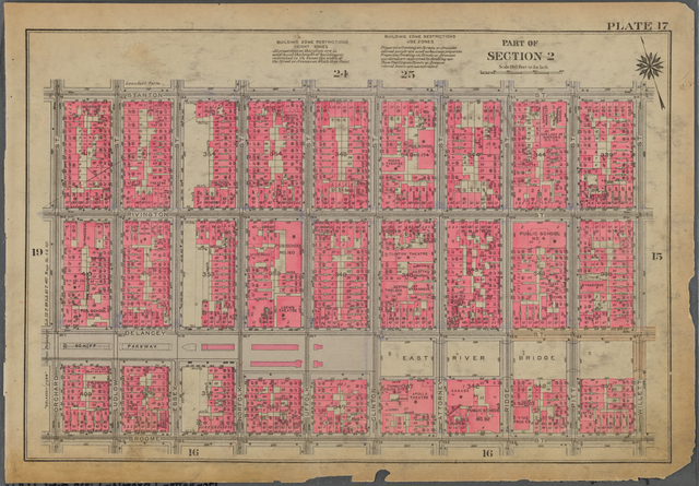 Plate 17, Part of Section 2: [Bounded by Stanton Street, Willet Street, Broome Street and Orchard Street]