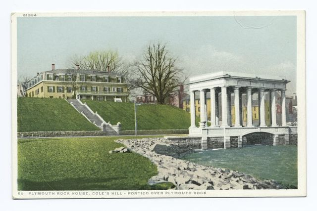 Plymouth Rock House, Cole's Hill (Portico over Rock), Plymouth, Mass.