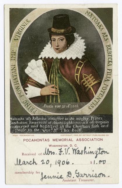 Pocahontas, Portrait