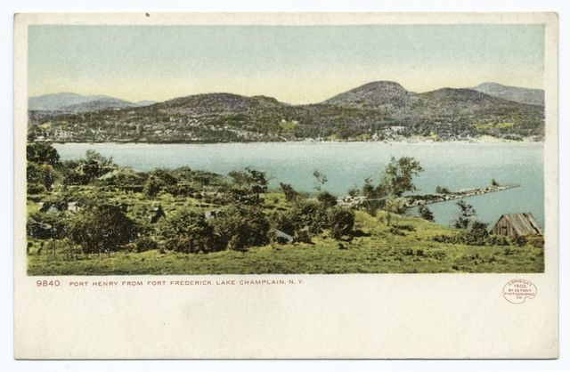 Port Henry from Fort Frederick, Lake Champlain, N. Y.