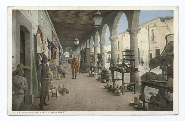 Portales of a Mexican Market, Tia Juana, Mexico