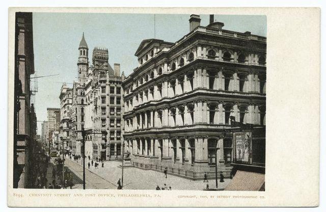 Post Office and Chestnut Street, Philadelphia, Pa.