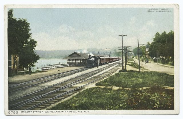 Railway Station, Weirs, Lake Winnipesaukee, N. H.