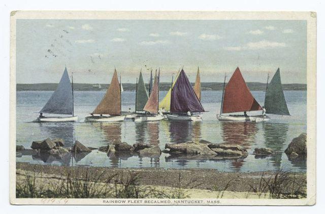 Rainbow Fleet Becalmed, Nantucket, Mass.