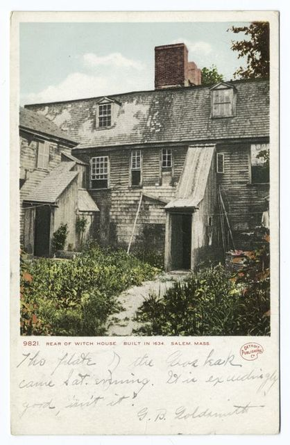 Rear of Witch House, Salem, Mass.