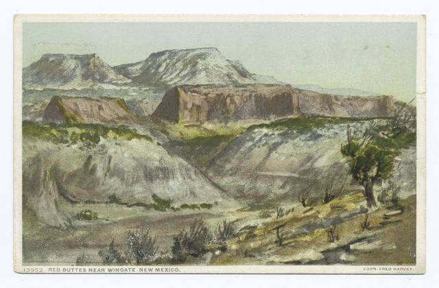 Red Buttes near Fort Wingate, New Mexico