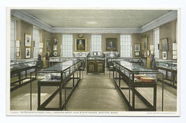 Representatives Hall, looking West, Old State House, Boston, Mass.