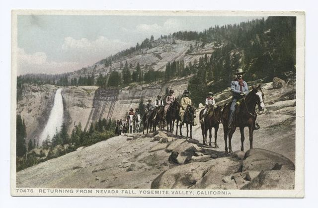 Returning from Nevada Falls, Yosemite, Calif.