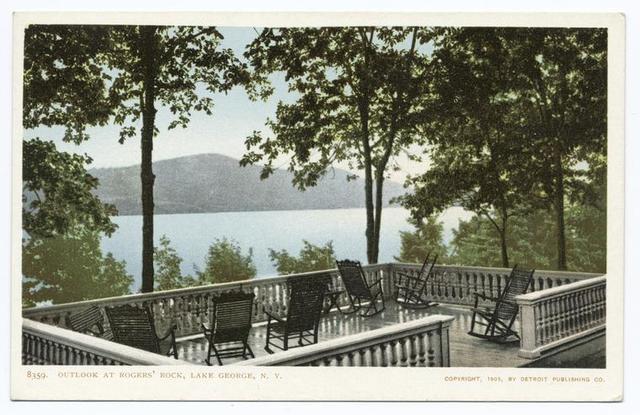 Rogers Rock, The Outlook, Lake George, N. Y.