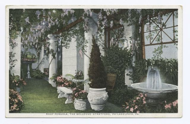 Roof Pergola, The Bellevue-Stratford, Philadelphia, PA.