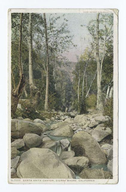 Santa Anita Canyon, Sierra Madre, California