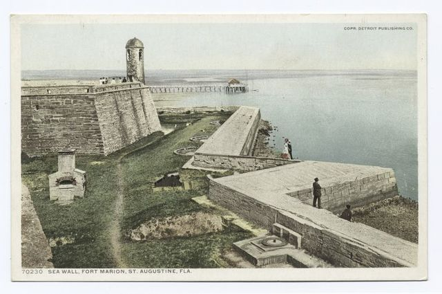 Sea Wall, Fort Marion, St. Augustine, Fla.