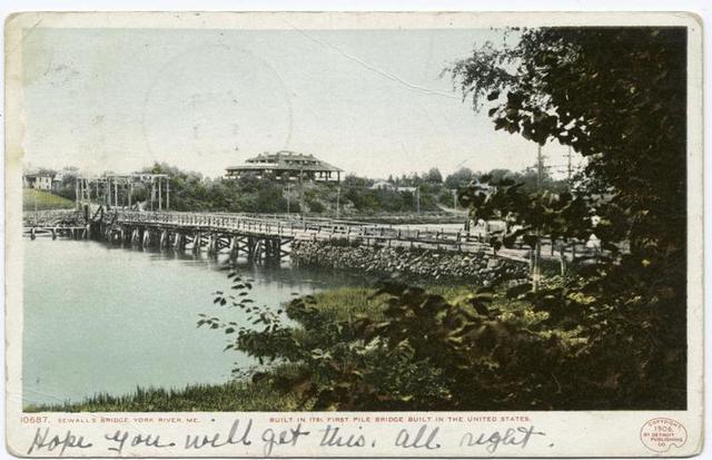 Sewall's Bridge, built 1761, York River, Me.