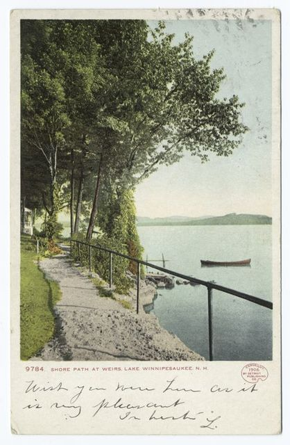 Shore Path, Weirs, Lake Winnipesaukee, N. H.