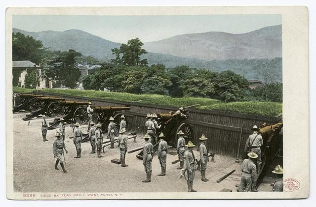 Siege Battery Drill, West Point N. Y.