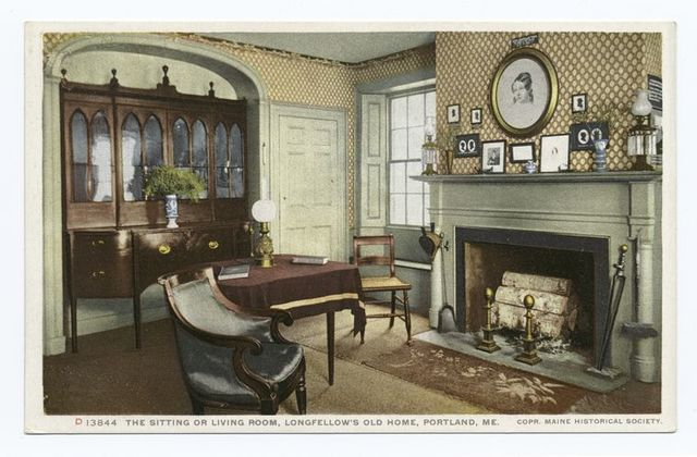 Sitting or Living Room, Longfellow's Old Home, Portland, Me.