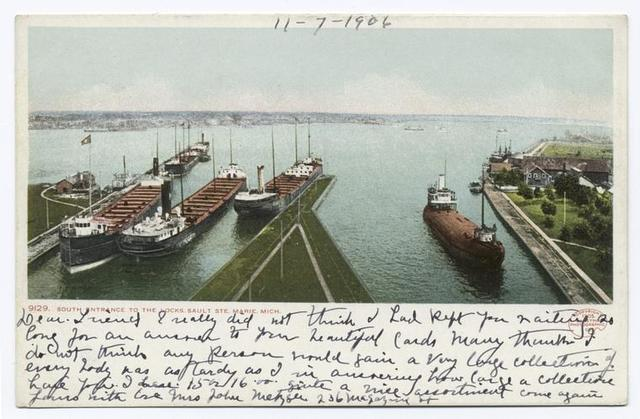 South Entrance to the Locks, Sault Ste. Marie, Mich.