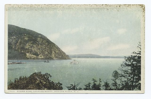 Storm King, Looking, North, Hudson River, New York