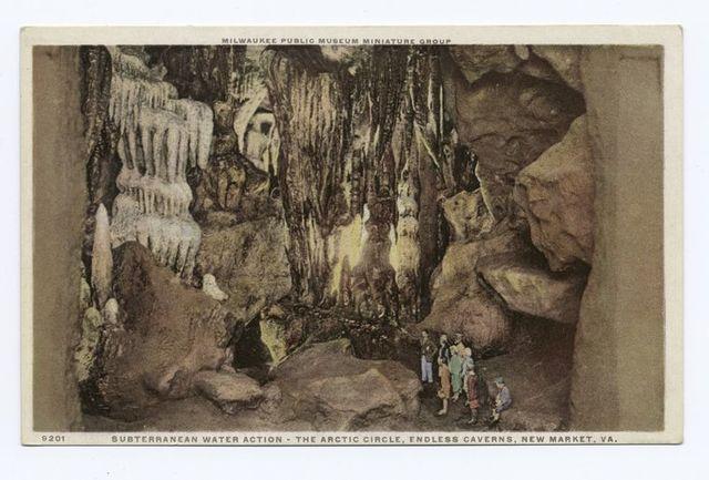 Subterranean Water Action - The Arctic Circle Endless Caverns, New Market, VA., Milwaukee Public Museum Miniature Group
